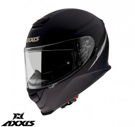 Casca moto integrala Axxis Eagle SV negru (ochelari soare integrati) -