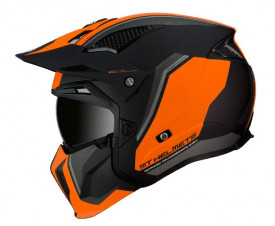 Casca moto MT Streetfighter SV Twin C4 portocaliu fluor mat (ochelari soare integrati)