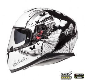 Casca moto MT Thunder III SV Vlinder A1 negru/alb perlat lucios