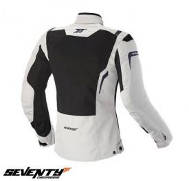 Geaca (jacheta) motociclete femei Touring Seventy vara model SD-JT46 culoare: alb ice/negru