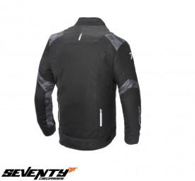 Geaca moto (jacheta) barbati Racing vara Seventy SD-JR52 negru/camuflaj