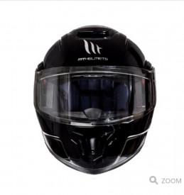 Casca moto Flip-up MT Atom SV negru lucios