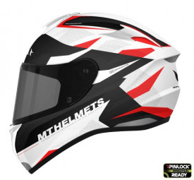 Casca moto integrala motociclete MT Targo Enjoy D5 rosu/alb/negru lucios