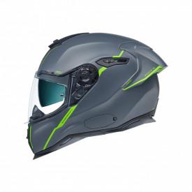 Casca moto integrala Nexx SX.100R Shortcut Premium Grey/Neon
