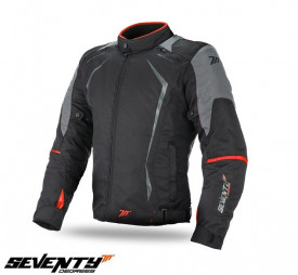 Geaca (jacheta) motociclete barbati Racing Seventy vara/iarna model SD-JR47 culoare: negru/rosu