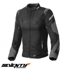 Geaca moto femei Racing Seventy vara/iarna model SD-JR71 culoare: negru/gri