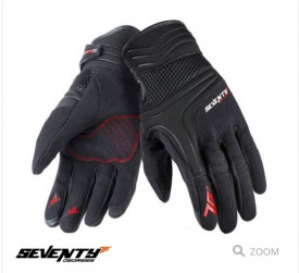 Manusi barbati neoprene/textil Urban vara Seventy model SD-C18 negru/rosu