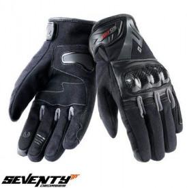 Manusi barbati Racing/Naked vara Seventy model SD-N14 negru/gri – degete tactile