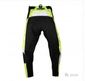 Pantaloni motociclete cross-enduro Unik Racing model MX01 culoare: negru/verde fluor