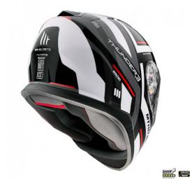 Casca moto integrala MT Thunder III SV Carry E0 alb/negru lucios (ochelari soare integrati)