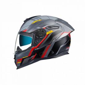 Casca moto Nexx SX.100R Gridline Grey/Red MT
