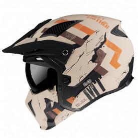 Casca MT Streetfighter SV Skull2020 A14 portocaliu mat