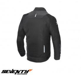 Geaca moto (jacheta) barbati Racing vara Seventy SD-JR52 negru