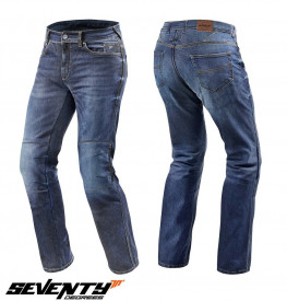 Blugi (jeans) moto barbati Seventy model SD-PJ2 tip Regular fit (cu insertii Aramid Kevlar)
