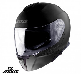 Casca moto flip-up Axxis Gecko SV negru mati (ochelari soare integrati)