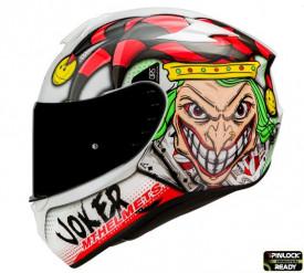 Casca moto integrala MT Targo Joker A0 alb lucios