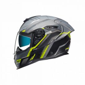 Casca moto integrala Nexx SX.100R Gridline Grey/Neon MT
