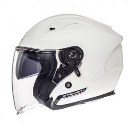 Casca open face motociclete MT Avenue SV alb lucios (ochelari soare integrati)