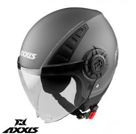 Casca Axxis model Metro A2 titanium mat (open face)