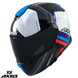 Casca modulabila Axxis model Gecko SV Epic B7 albastru lucios (ochelari soare integrati)