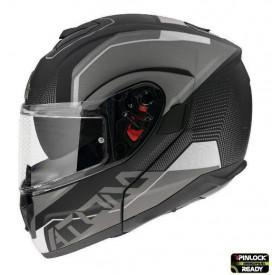 Casca moto flip-up MT Atom SV Quark A0 alb/negru mat/lucios