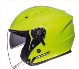 Casca open face motociclete MT Avenue SV galben fluor lucios (ochelari soare integrati)