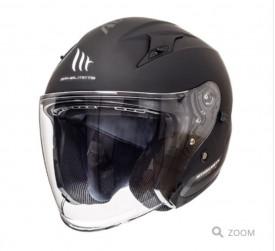 Casca open face motociclete MT Avenue SV negru lucios/ negru mat (ochelari soare integrati)