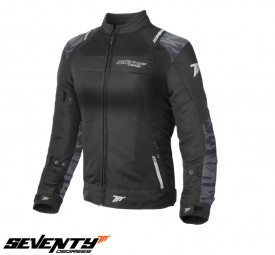 Geaca (jacheta) dama Racing vara Seventy model SD-JR54 negru/camuflaj