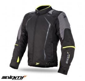 Geaca (jacheta) motociclete barbati Racing Seventy vara/iarna model SD-JR47 culoare: negru/galben fluor