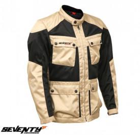 Geaca (jacheta) motociclete barbati Touring vara Seventy model SD-JC30 culoare: negru/bej