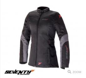 Geaca (jacheta) motociclete femei Urban Seventy vara/iarna SD-JC51 culoare: negru/gri