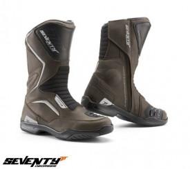 Ghete (cizme) moto Touring Unisex Seventy model SD-BT2 culoare: maro