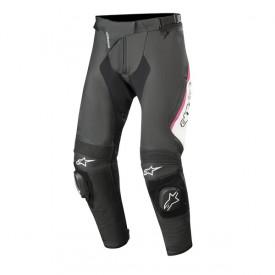 Pantaloni de piele Alpinestars STELLA MISSILE V2 Black/White/Pink