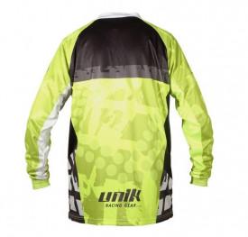 Tricou (bluza) cross-enduro Unik Racing model MX01 culoare: negru/verde fluor