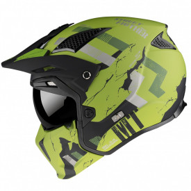 Casca MT Streetfighter SV Skull2020 A16 verde mat