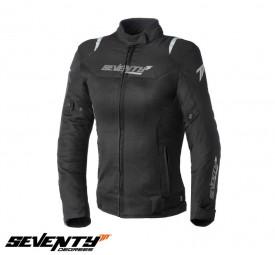 Geaca moto femei Racing vara Seventy model SD-JR50 culoare: negru