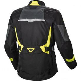Geaca moto Macna Sonar NightEye textil negru/galben fluor