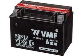 Baterie moto AGM VMF Powersport YTX9-BS , capacitate 12V | 8Ah.