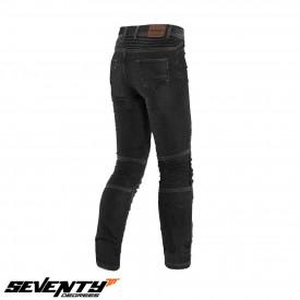Blugi (jeans) moto barbati Seventy model SD-PJ6 tip Slim fit (cu insertii Aramid Kevlar)
