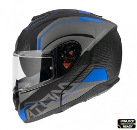 Casca moto flip-up MT Atom SV Quark A7 albastru mat