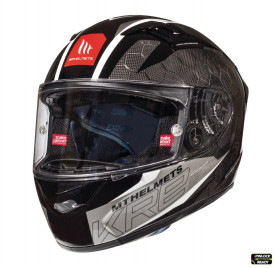 Casca moto integrala MT KRE Snake carbon 2.0 A0 negru/gri lucios – 100% carbon