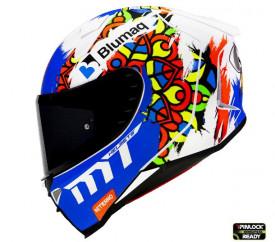 Casca moto integrala MT Revenge 2 Moto 3 A0 alb mat