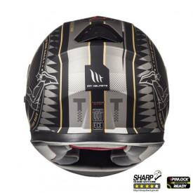 Casca moto MT Thunder III SV Isle of Man negru/auriu mat