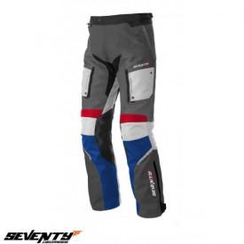 Pantaloni motociclete Touring unisex Seventy vara/iarna model SD-PT3 culoare: gri/rosu/albastru