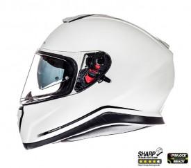 Casca integral motociclete MT Thunder III SV alb lucios (ochelari soare integrati)