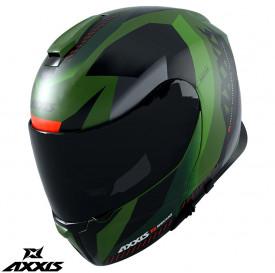 Casca modulabila Axxis model Gecko SV Shield F6 gri verde mat (ochelari soare integrati)