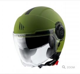 Casca MT Viale SV A6 verde mat (ochelari soare integrati)