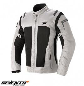 Geaca (jacheta) barbati Seventy vara model SD-JT44 alb ice/negru - impermeabila
