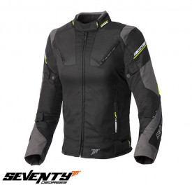 Geaca moto femei Racing Seventy vara/iarna model SD-JR71 culoare: negru/gralben fluor