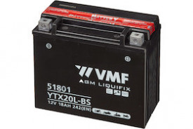 Baterie moto AGM VMF Powersport YTX20L-BS , capacitate 12V | 18Ah .